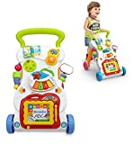 Lukzer Baby Walker with Music 4 Wheels Drawing Board & Lights/Musical Activity Fun