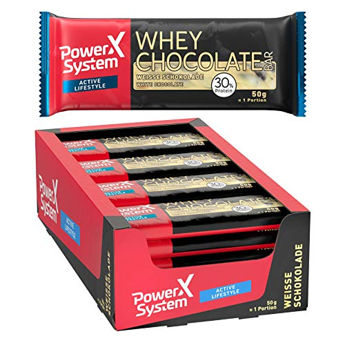 Power System Crispy Whey Bar - Whey Protein Riegel (White Choc 16 x 50g)