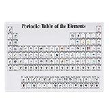 Pantalla de tabla periódica de acrílico Herramienta de enseñanza para niños Decoración del hogar Pantalla de elementos químicos de cristal