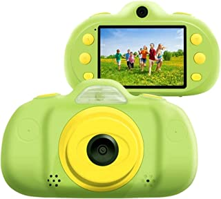 Children Camera P8 2.4 inch Eight-megapixel Dual-Lens Children Camera, Support for 32GB TF Card (Green) (Color : Green)
