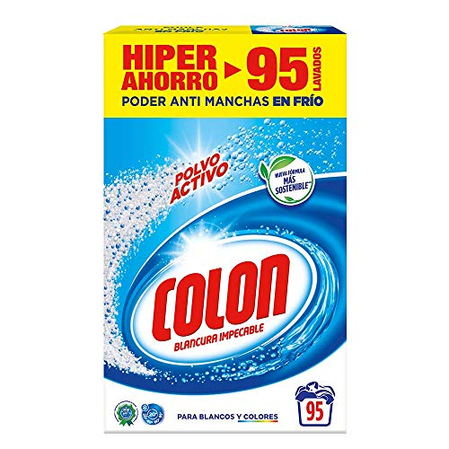 Colon Detergente para Lavadora de Ropa en Polvo Activo - 95 lavados