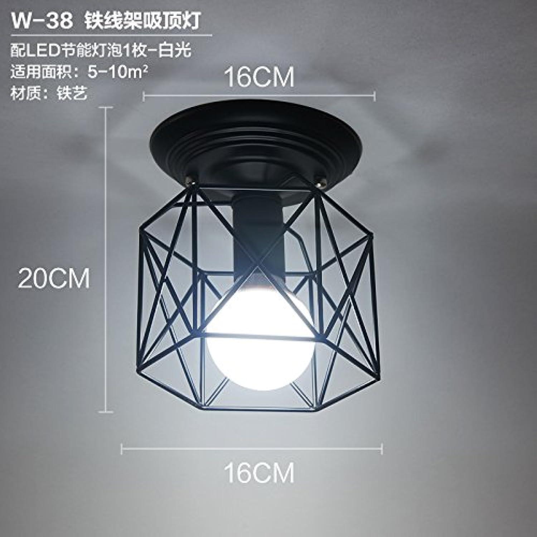 Armature en fer nordique de plafond de lampe-blanc
