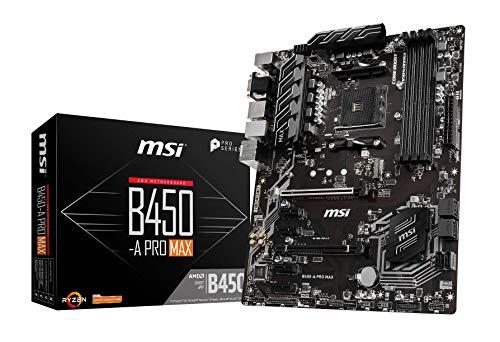 MSI B450-A PRO MAX AMD AM4 DDR4 m.2 USB 3.2 Gen 2 HDMI ATX Motherboard