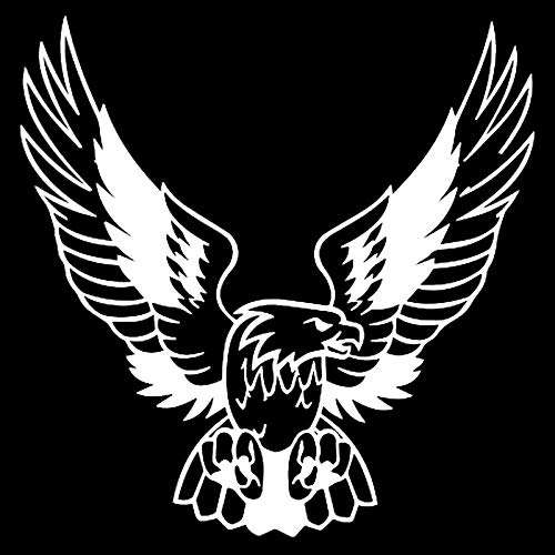 NLJYSH Wasserdicht 2 Stück 15,8 * 16cm eleganter Adler Classic Bird Autoaufkleber Vinyl wasserdichte Auto-Styling-Abziehbilder Schwarz/Silber S1-2354 Stilvolle Einfachheit (Color Name : Silver)