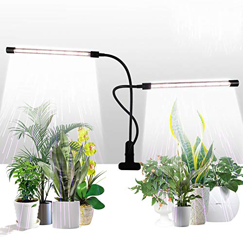 Grow Light,GHodec Sunlight White 50W 84 LEDs Dual Head Clip Plant Lights for Indoor Plants, 4/8/12H Timer & 5 Dimmable Levels