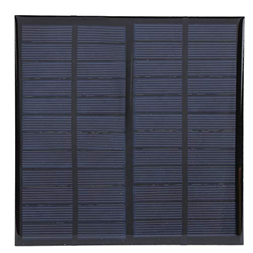 Panel Solar, Panel Solar de 12 V 3 W, Módulo de Energía de Celda, Panel Solar Portátil Mejorado, Panel Solar de Silicio Policristalino con Cable de 1 m