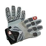 FRG-02 guantes de fútbol americano receptor, gris (M)