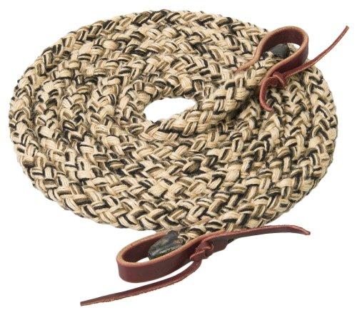 Weaver Leather Silvertip Seil, hohl, 1,6 cm x 2,4 m, Hellbraun/Schwarz/Braun