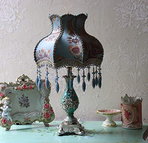 Zenghh Gótico Empire lámpara de mesa, marroquí árabe turco lámpara de lectura del estilo de Bohemia del Este, hecho a mano flor de Rose Finalizar Casa Probador de Kid de fijación for el matrimonio Cua