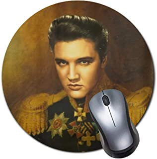 Elvis PresleyCustomized Round Non-Slip Rubber Mousepad Gaming Mouse Pad