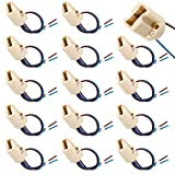 Iyowei 15Pcs Soportes para Lámparas Halógenas Casquillo G9 Portalámparas G9 Zócalos de Lámpara G9, Portalámparas con Casquillo G9, 250V 2A Adecuado para Bombillas LED, Lámparas Halógenas (16cm)