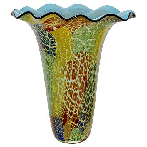 Glasvase Vase Glas im Murano Antik Stil 41cm