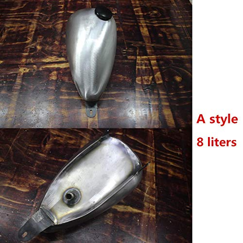 Banlardk for Motorcycle Vintage Fuel Tank Gas Retro Petrol Tank for Honda VLX STEED 400 600 VLX600 VLX400 STEED400 STEED600 - (Color: F style)