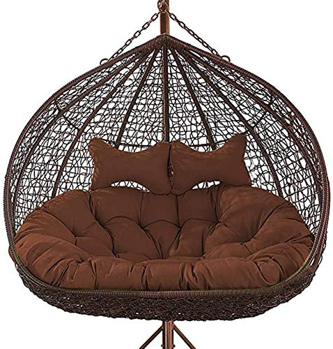 GOHHK Double Swing Seat Cushion,Thickened Hanging Egg Hammock Chair Cushions Without Stand,Egg Nest Chair Pad for Indoor,Outdoor Patio Backyard -