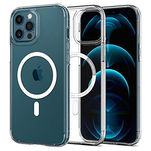Spigen Ultra Hybrid Mag Hülle Kompatibel mit iPhone 12 Pro & Komaptibel mit iPhone 12 -Weiß