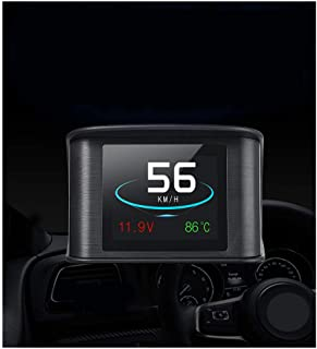 Car Head Up Display OBD2 HUD with TFT LCD Display Shows Speed RPM Voltage Detection for Error Code Muti-Function Car HUD w...