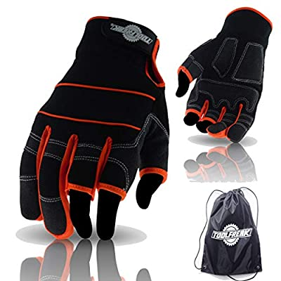 ToolFreak fingerless, 3 finger, full finger gloves for work and sport