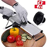 Best Mandoline Slicers - Mandoline Slicer with Cut-Resistant Gloves and Blade Guard Review