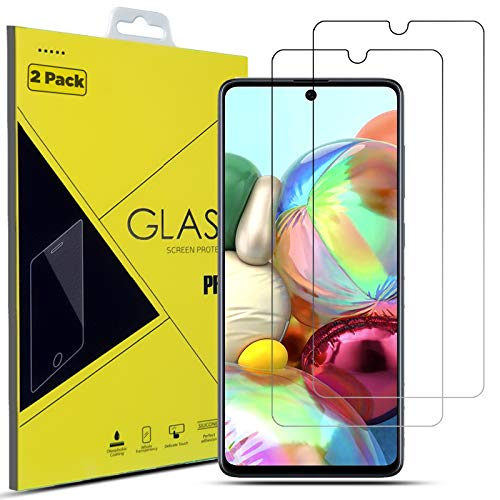 Screen Protector For Samsung Galaxy A71 5G Tempered Glass Film LCD Guard For A71 6.7' A716B/DS (2-Pack)