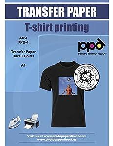 PPD A4 Papel De Transferencia Térmica Para Camisetas y Tejidos Oscuros, 5 Hojas - PPD-4-5