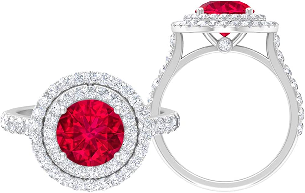 Solitaire Bridal Ring Set 2.25 Moiss D-VSSI Round Gemstones Max 63% OFF CT Japan Maker New