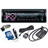 Sony MEX-GS620BT CD Receiver with Bluetooth and Sirius XM Tuner and Steering Wheel Control Interface Bundle