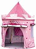 MaMaMeMo Enfants Princesse Pop Up Chateau - Tente Pop up Rose de Princesse-...