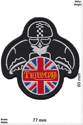 Parches - Triumph Biker- Motorbike - Motorsport - Motorcycles - Biker - Iron on Patch - Parche Termoadhesivos Bordado Apliques - Patch - Give Away Regalar