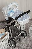 Babyline Toile - Saco porta bebé, grupo 0, color azul