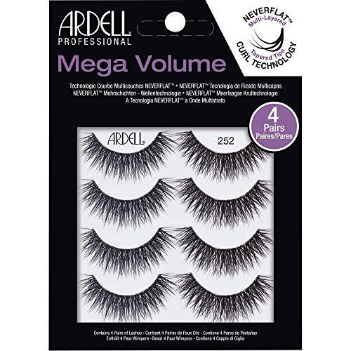 Ardell False Eyelashes Mega Volume 252, 1 pack (4 pairs per pack)