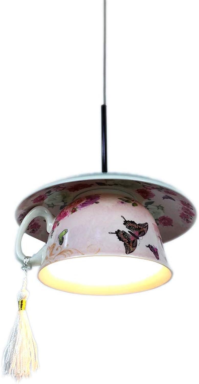 ZHANG NAN ● 1-Light Teetasse Teekanne LED Pendelleuchte Keramik Hanglamp Moderne Hngelampe Home Decor Droplight für Küche Wohnzimmer Esszimmer Schlafzimmer Deckenleuchte ●