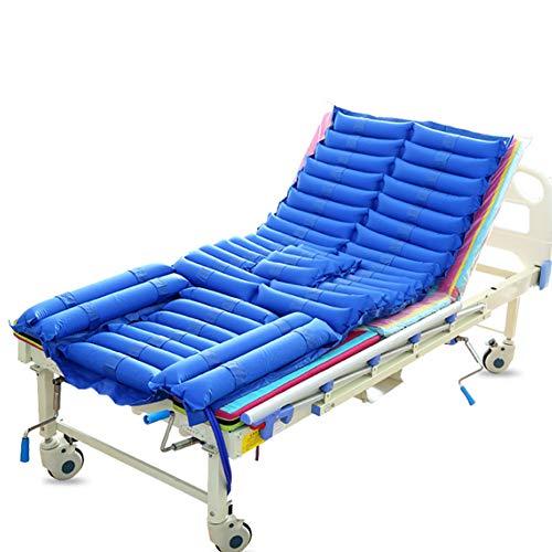 Afwisselend opblaasbare druk matras lucht topper pad voor bed pijnlijke, Zweren Preventie, Bedlegerige behandeling 185x90cm Blauw