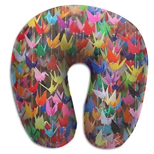 Soporte para el Cuello Almohada de Viaje Origami Grullas de Papel Cojín...