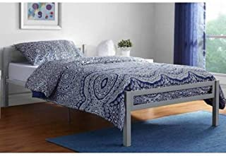 Mainstays Premium Metal Bed, Twin Size Gray