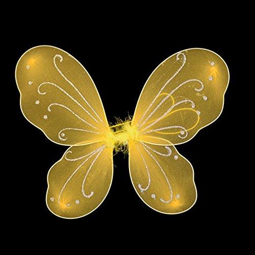 WENKEN - Alas de mariposa para niños, diseño de hadas, coloridas alas de mariposa para Halloween, fiesta, 35 x 42 cm