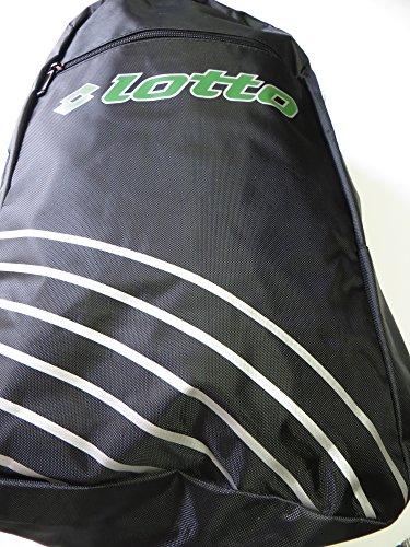 Lotto Vinto Backpack, Rucksack, schwarz, weiß, grün, 48,5x34x16 cm