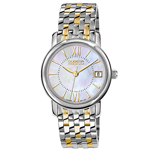 Dugena Damen-Armbanduhr Rondo Petit - Traditional Classic Analog Quarz Edelstahl 7090155