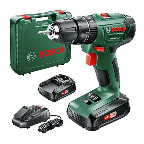 Bosch PSB 1800 LI-2 cordless combi drill (2 x batteries, 18V system, in case)