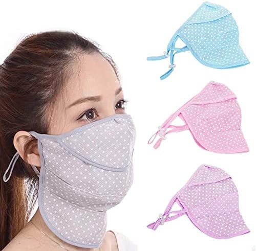 WSERE 4pcs Dustproof Breathable Earloop Reusable Washable Cotton Half Face Shield Cover for product image