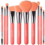 Docolor Makeup Brushes 10 Piece Neon Peach Makeup Brush Set Premium Synthetic Kabuki Foundation...