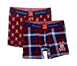 Psycho Bunny Men's Comfort Knit Boxer Brief Gift Set - Pack of 2 (BBAS6, Large)