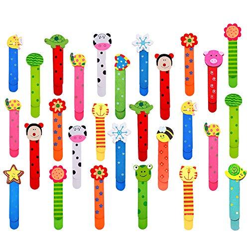 30pz Animali Segnalibro Bambini Colorati Carini Divertenti in Legno Regalino Gadget Festa Compleanno Bambini per Bomboniera Battesimo Natale