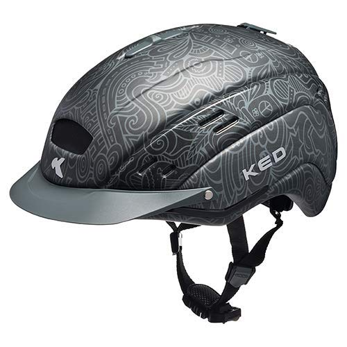 Casco de bicicleta K-E-D Cocon, casco todoterreno con tecnología maxSHELL robusta, sistema QuickSafe y Quickstop color antracita, tamaño SM (Kopfumfang 52-56 cm)