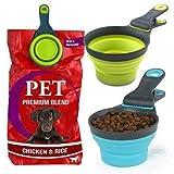 MTS 3 en 1 Cuchara medidora de Alimentos para Mascotas y Clip de Sellado de Bolsas Cuchara para Perro Gato