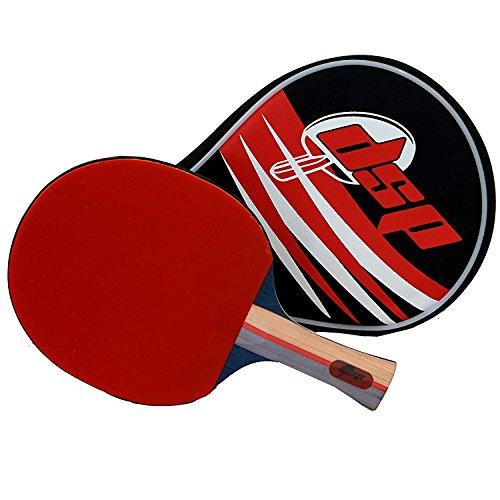 DSP Klinge 750Tischtennis Paddle–Wettbewerb ITTF zertifiziert Double Power Radiergummi–Ideal für Fortgeschrittene oder Mittelschneider Ping Pong Player, der Speed, Spin und Kontrolle inkl. Tasche