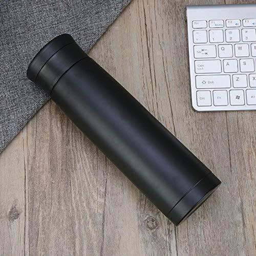 double paroi gourde sport randonnée école Aspirateur double couche, simple tasse droite, tasse portable-350ml_black