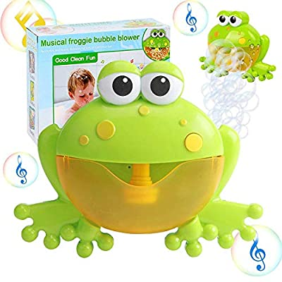 Kingtree Bath Bubble Toy for Kids, Bathtub Bubble Frog Bathing Toys Automatic Musical Bubble Maker with 12 Nursery Rhyme Music, Cute Bubble Blower Machine for Boys and Girls of All Ages