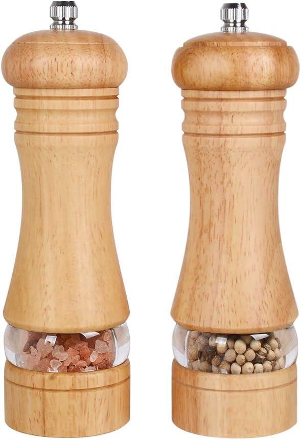 Pepper Mills Season Grinder Pepper and Salt Wooden Mill Wooden Shaker Peppercorn Grinder Large Shakers Vintage Salt and Pepper Shakers