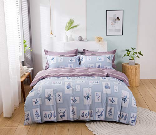 USTIDE Cotton Duvet Cover Breathable Quilt Cover Comforter Cover Breathable Super Soft Duvet Cover Quilt Cover Fashion Single Size Quilt Cover Kids Girls Quilt Cover with Pillowcase