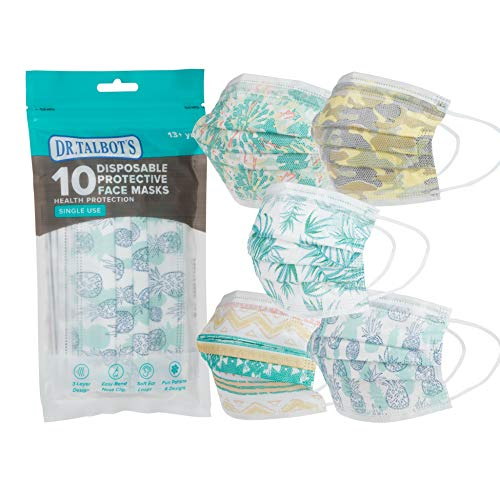 Dr. Talbot's Disposable Teen Face Mask for Personal Health, 13+ Years Old, Prints May Vary, 10 Count